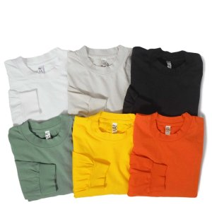 ロサンゼルス アパレル 6.5oz ロングスリーブ ガーメント ダイ Tシャツ 全4色|rawdrip