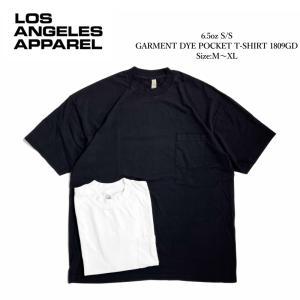 ロサンゼルス アパレル 6.5oz ショートスリーブ ガーメント ダイ ポケット Tシャツ 全2色 rawdrip