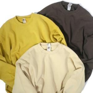 ロサンゼルス アパレル ガーメント ダイ 14oz ヘビー フリース プルオーバー クルーネック スウェットシャツ 全3色 メンズ|rawdrip