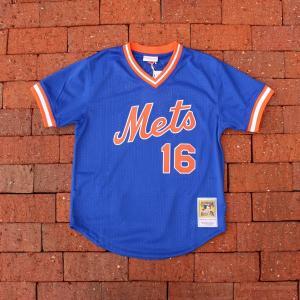 ミッチェル&ネス ニューヨーク メッツ ドワイト グッデン 1986 オーセンティック メッシュ バッティング プラクティス ジャージ #16 ブルー/メンズ|rawdrip