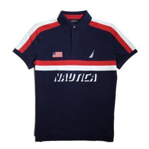 【SALE】ノーチカ スリム フィット USA デッキ ポロ シャツ ネイビー|rawdrip