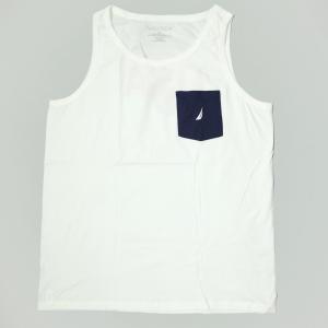 ノーチカ USA ポケット タンクトップ ホワイト|rawdrip