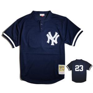 【SALE】ミッチェル&ネス ニューヨーク ヤンキース ドン マッティングリー 1995 オーセンティック メッシュ バッティング プラクティス ジャージ #23|rawdrip