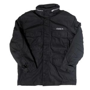 オベイ イギー インサレイテッド ジャケット ブラック メンズ|rawdrip
