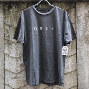 [SALE]オベイ ノベル オベイ ベーシック ピグメント Tシャツ ダスティー ブラック|rawdrip
