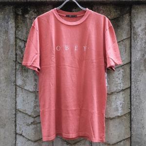 [SALE]オベイ ノベル オベイ ベーシック ピグメント Tシャツ ダスティー ダーク ローズ|rawdrip