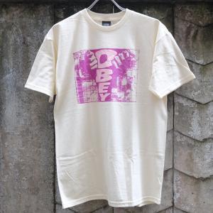 オベイ ウォール Tシャツ ナチュラル |rawdrip