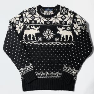 ポロ ラルフ ローレン ノルディック セーター ブラック ホワイト|rawdrip