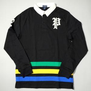 ポロ ラルフ ローレン ボーイズ オールドイングリッシュ P  ラグビー シャツ ブラック|rawdrip