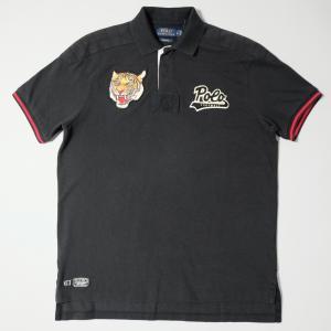 ポロ ラルフ ローレン カスタムフィット タイガー ポロシャツ ブラック|rawdrip
