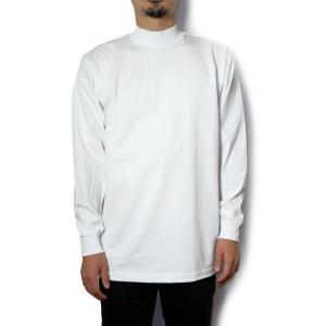 プロクラブ モック ネック ロングスリーブ Tシャツ 全2色 無地|rawdrip