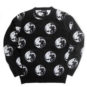 リップンディップ  ナーマル ヤン ニット セーター ブラック メンズ|rawdrip