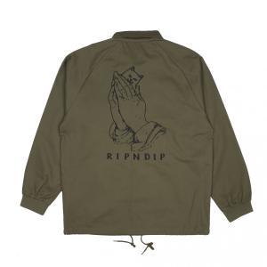 リップンディップ プレイング ハンズ ツイル ジャケット オリーブグリーン|rawdrip
