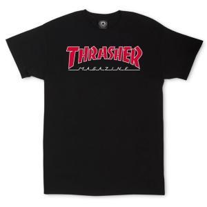 スラッシャー アウトライン Tシャツ ブラック|rawdrip
