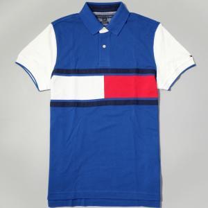 【50%OFF】トミー ヒルフィガー ポロシャツ ブルー ホワイト レッド|rawdrip