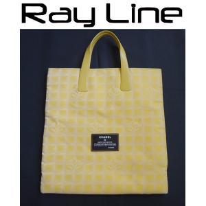 f3f9d6d98947 シャネル バッグ 本物 ニュートラベルライン トートバッグ黄色 中古