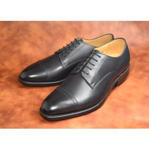 【RAYMAR】外羽根パンチドキャップトゥ ブラック / Vibramソール / グッドイヤーウェルト 23.5cm~28.0cm  / レイマー|raymar-shoes