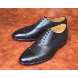 【RAYMAR】内羽根パンチドキャップトゥ / レインシリーズ / Vibramソール /  グッドイヤーウェルト 23.5cm~28.0cm ブラック / レイマー|raymar-shoes