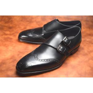 【RAYMAR】Archer サイドダブルモンクストラップ Weinheimer社製 Box calf 使用 ハンドソーンウェルテッド 23.5cm~28.0cm レイマー|raymar-shoes