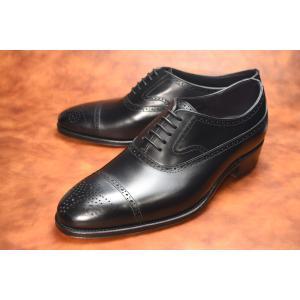 【RAYMAR】ENOLANE セミブローグ ブラック Weinheimer社製 Box calf 使用 ハンドソーンウェルテッド 23.5cm~28.0cm レイマー|raymar-shoes