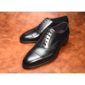 【RAYMAR】Ethan ストレートチップ ブラック Weinheimer社製 Box calf 使用 ハンドソーンウェルテッド 23.5cm~28.0cm レイマー|raymar-shoes