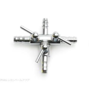 エアーチューブ用3方コック 三又分岐 (金属製 口径6mm)  【在庫有り】 「20点まで」|rayonvertaqua