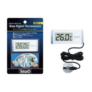 スタイリッシュなデジタル水温計。水温センサーのみを水槽内に設置するタイプ。  本体は水槽壁面に取り付...