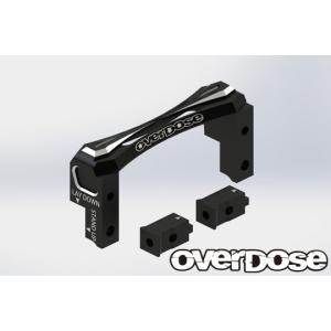 【入荷前予約】OVER DOSE OD2493 2Way レイアウトアルミサーボマウント(For Vacula/ Divall/ VaculaII/ GALM ) ブラック|razikonwebshop