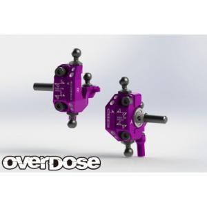 【再入荷予約】OVER DOSE OD2437 アジャスタブルアルミナックルセット Type-2(For RWD /パープル)|razikonwebshop