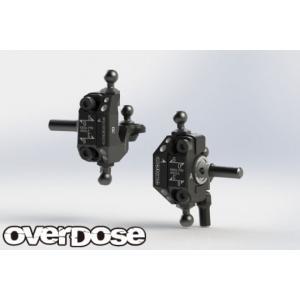 【再入荷予約】OVER DOSE OD2439 アジャスタブルアルミナックルセット Type-2(For RWD /ブラック)|razikonwebshop