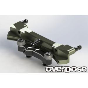 【入荷前予約】OVER DOSE OD2553 アルミ湾曲スライドラックステアリングセット(For VaculaII, GALM/ ブラック)|razikonwebshop