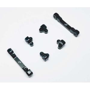 【入荷前予約特価】SPICE SP-BSHS-BK アジャスタブルブッシュ式サスブロック(TRF419X,TA07PRO用) ブラック