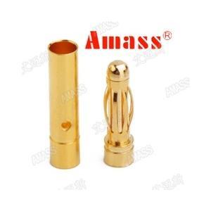 AMASS 3mmゴールドコネクターオスメスセット