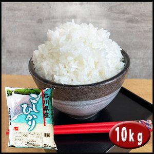 お米 10kgコシヒカリ  (5kg×2) 石川県産(加賀百万石のお米) 検査一等米 29年産|rc-kaneko