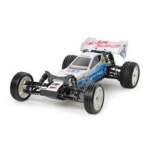 ○「RCカーの構造が良く判るシンプルな部品構成。オフロード走行が手軽に楽しめる、軽快な走りの2WDバ...