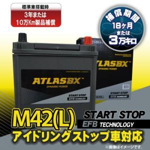 ATLAS M42 アトラス  EFB アイドリングストップ車/標準車対応 シールドバッテリー (互換:M-42/B20L)|rca