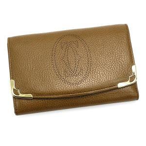カルティエ cartier 二つ折り財布 小銭入 marcello l3000816 portefeuille compact zippe tobacco color camel|rcmdfa