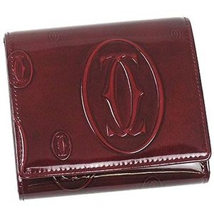 カルティエ cartier 三つ折り財布 小銭入 happy birthday l3000720 porte monnaie/billets/cartes burdeos wine|rcmdfa