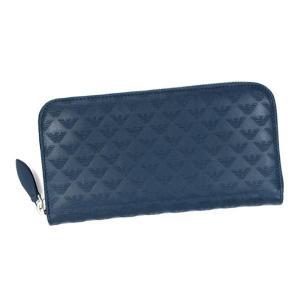 エンポリオ・アルマーニ emporio armani 長財布 長札 yeme49 wallet calfskin blue d.bl|rcmdfa