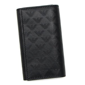 エンポリオ・アルマーニ emporio armani キーケース yemg68 key holder calfskin black bk|rcmdfa