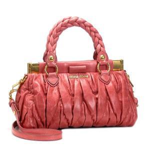 ミュウミュウ miumiu ハンドバッグ matelasse lux rn0670 rosa salmon|rcmdfa
