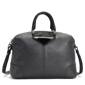 フルラ furla ハンドバッグ bau0 nikia l satchel color iron+onyx gy|rcmdfa