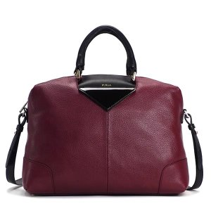 フルラ furla ハンドバッグ bau0 nikia l satchel burgundi+onyx w.red|rcmdfa