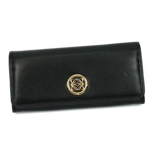 ロエベ loewe 長財布 長札 maia 174.82.f11 continental wallet w/anag black bk|rcmdfa