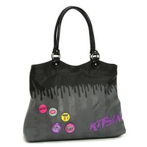 キットソン KITSON トートバッグ KHB0028 KIKI GREY/BLACK|rcmdfa