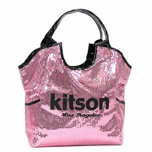 キットソン KITSON トートバッグ SEQUIN DAY BAGS KHB0267 LARGE DAY BAG PINK & BLACK PK|rcmdfa