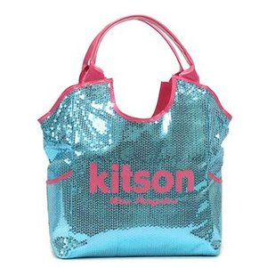 キットソン KITSON トートバッグ SEQUIN DAY BAGS LARGE DAY BAG LARGE DAY BAG LIGHT BLUE & PINK L.BL|rcmdfa
