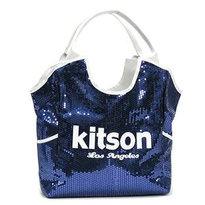 キットソン KITSON トートバッグ SEQUIN DAY BAGS LARGE DAY BAG LARGE DAY BAG NAVY & WHITE NV|rcmdfa