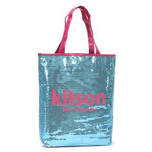 キットソン KITSON トートバッグ SEQUIN DAY BAGS KHB0264 MEDIUM DAY BAG LIGHT BLUE & PINK L.BL|rcmdfa