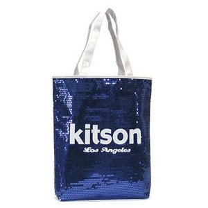 キットソン KITSON トートバッグ SEQUIN DAY BAGS KHB0264 MEDIUM DAY BAG NAVY & WHITE NV|rcmdfa